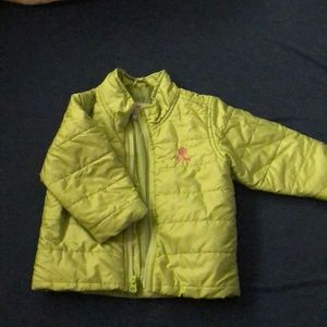 Girls Spring/fall lime green puff jacket Old Navy
